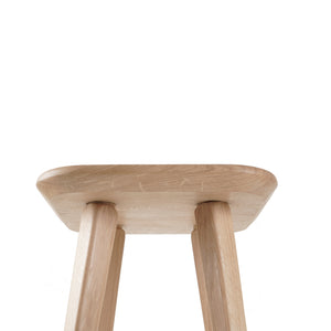 Oak Bar stool close up