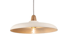 Load image into Gallery viewer, Bas Ceramic and Oak Pendant Light