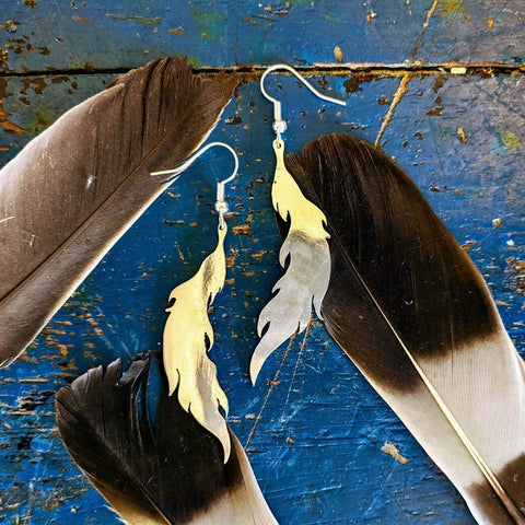 Feather Earrings from Spoons