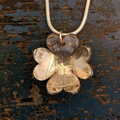Four Leaf Clover Pendant from old one penny