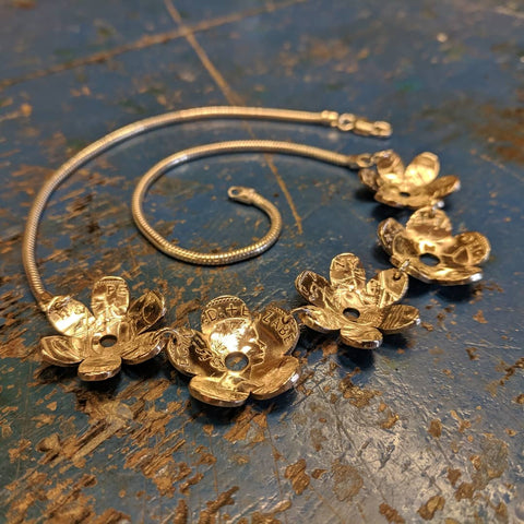 Daisy Chain and Buttercup Necklace