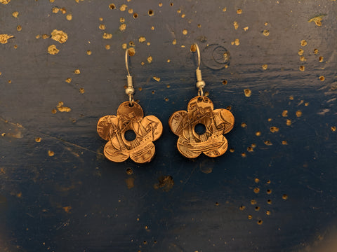 Buttercup Half Penny Earrings