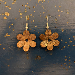 Daisy Half Penny Earrings