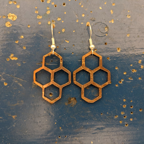 Quad of Honeycomb Penny Earrings