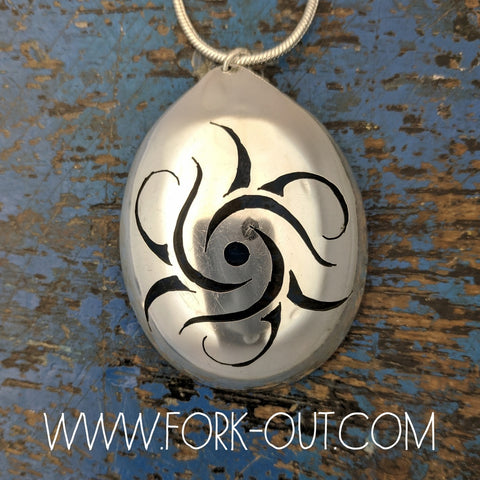 Whirlpool Tribal spoon pendant