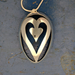 Heart Within a Heart Spoon Pendant