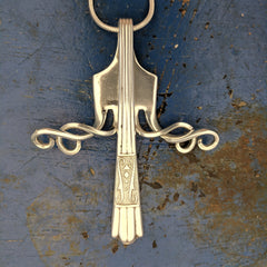 In Full Bloom fork pendant