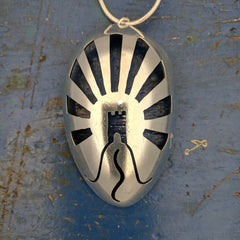 Glastonbury Tor Spoon Pendant