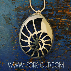 Ammonite Fossil Spoon Pendant
