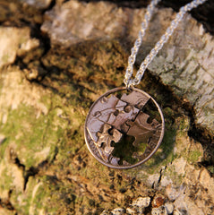 Jigsaw Puzzle Penny Pendant