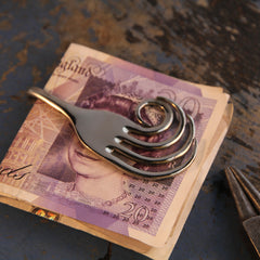 Feathered Fork Money Clip
