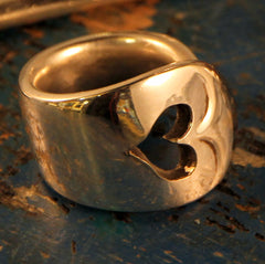Spoon Handle Ring - Heart Cut Out