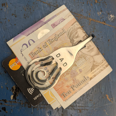 Personalised Fork Money clip