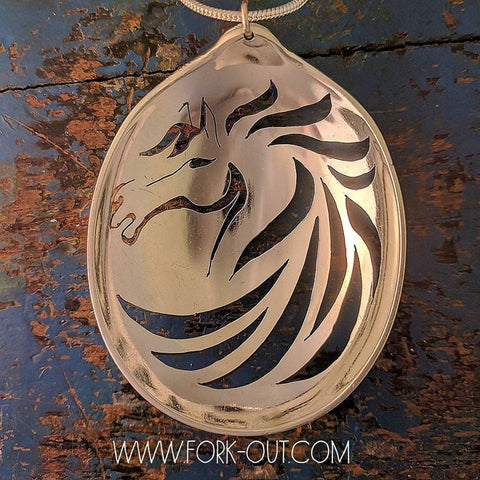 Stallion Tribal spoon pendant