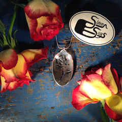 English Rose Teaspoon Pendant