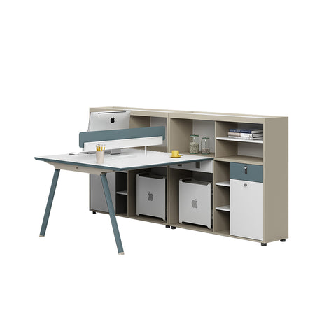 小清新書架工作枱 Simple Fashionable Work Desk with Bookcase