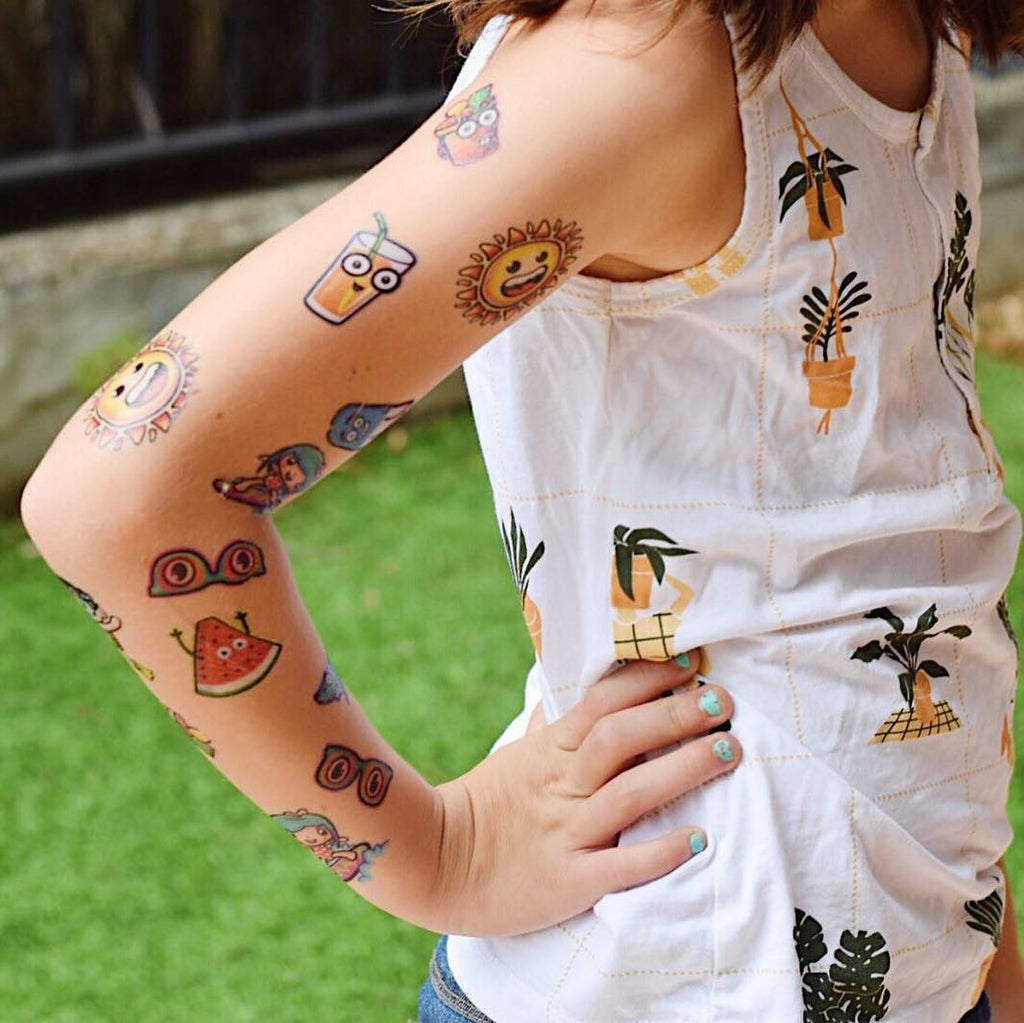 tattoonie temporary tattoos pintapum playa verano summer