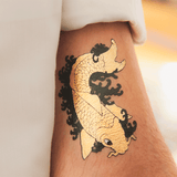 tattoonie temporary tattoos gold fish koi carp