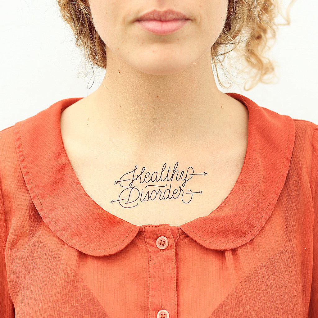 Tattoonie Temporary Tattoos Healthy Disorder