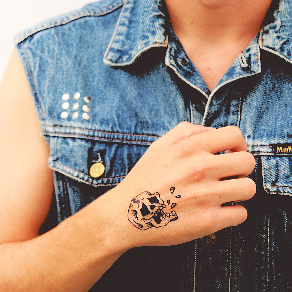 Tattoonie Temporary Tattoos picassent skull