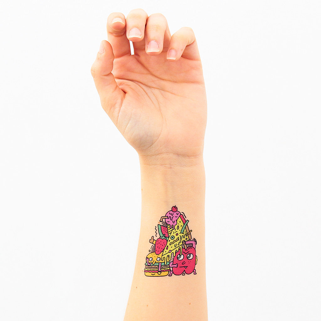 Tattoonie Temporary Tattoos fast food fruit