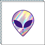 alien ufo iridescent holographic temporary tattoo