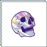 skull iridescent holographic temporry tattoo