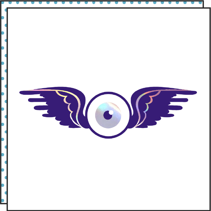 eye wings iridescent holographic tattoonie temporary tattoo