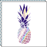 Tattoonie Temporary Tattoos pinapple holographic