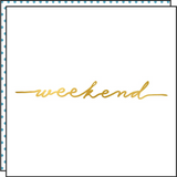 WEEKEND (Pack de 2)