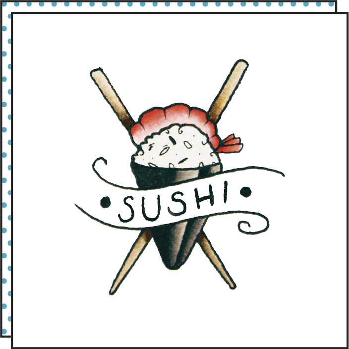 Tattoonie Temporary Tattoos sushi