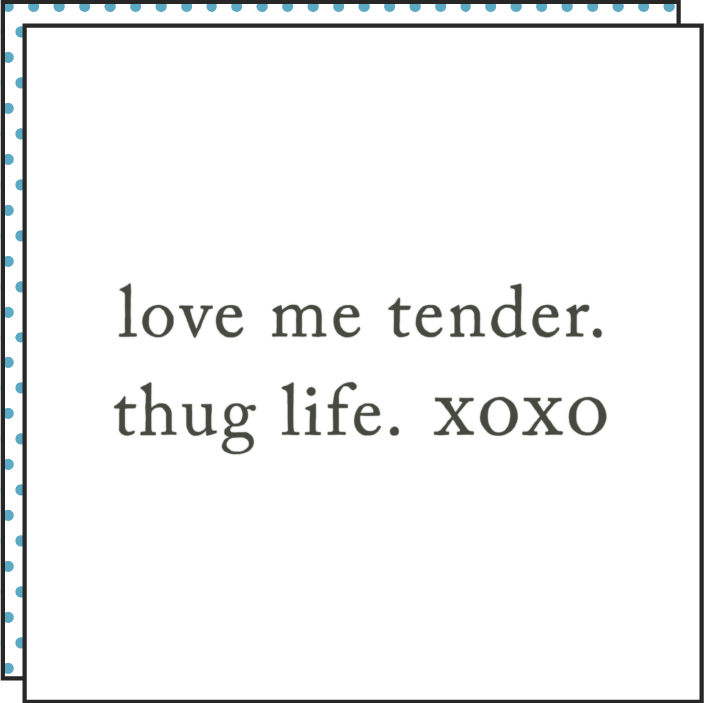 Tattoonie Temporary Tattoos phrases I Love me tender. Thug life. xoxo