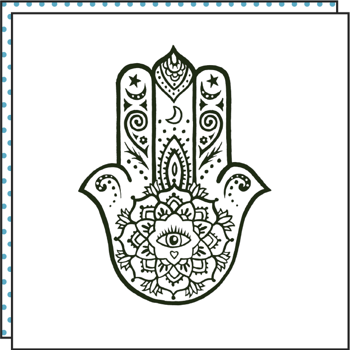 Tattoonie Temporary Tattoos Hamsa Hand