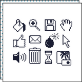 Tattoonie Temporary Tattoos ok computer old icons