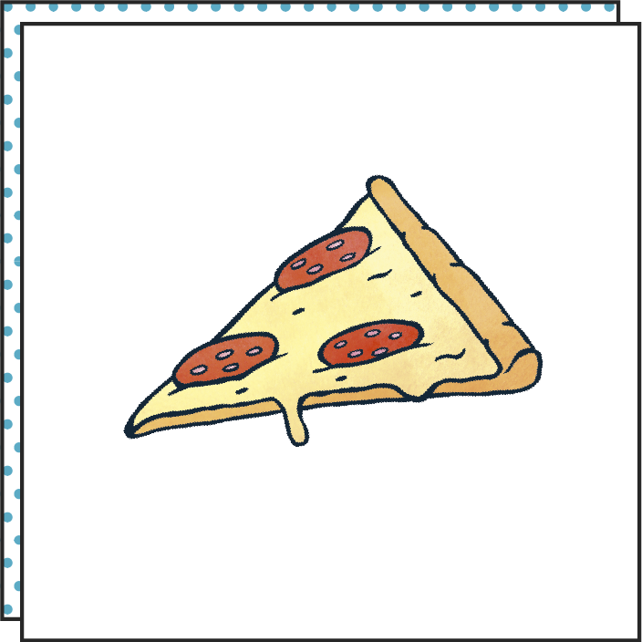 Tattoonie Temporary Tattoos pizza pepperoni