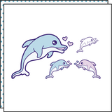 DOLPHIN LOVE (Set of 2)