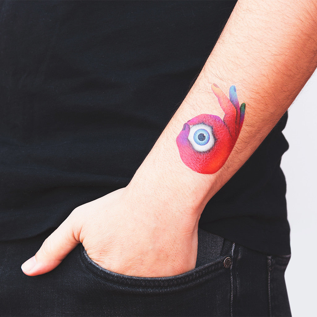 tattoonie design temporary tattoos la boca aok hand eye