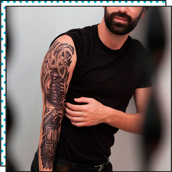 ARM TATTOO STEAMPUNK (Pack de 1)