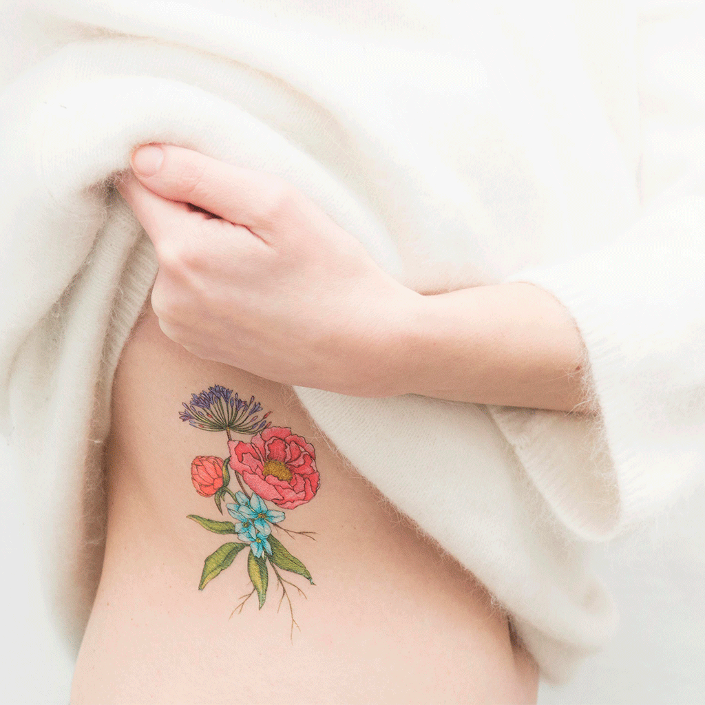 tattoonie temporary tattoos botanical belen segarra flowers