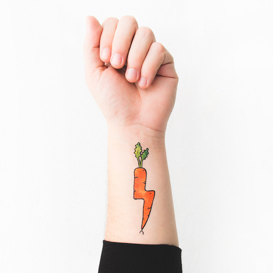 Tattoonie Temporary Tattoos carrot storm
