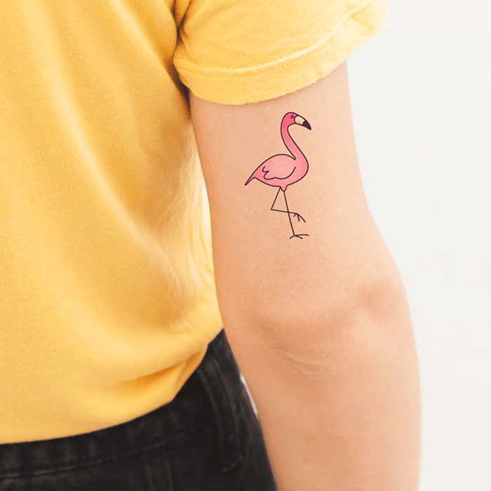 tattoonie temporary tattoos club flamingo