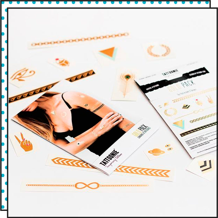 Tattoonie Temporary Tattoos Gold Pack