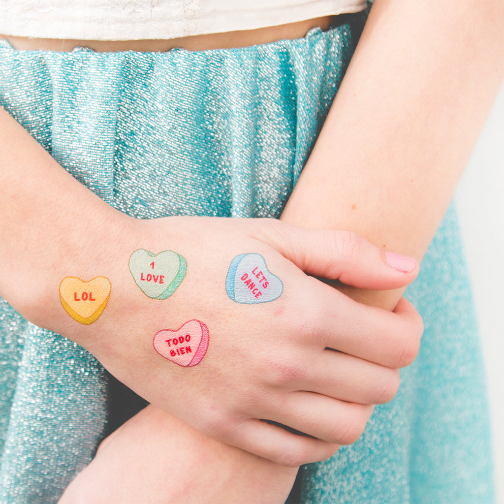 Tattoonie Temporary Tattoos Heart Messages