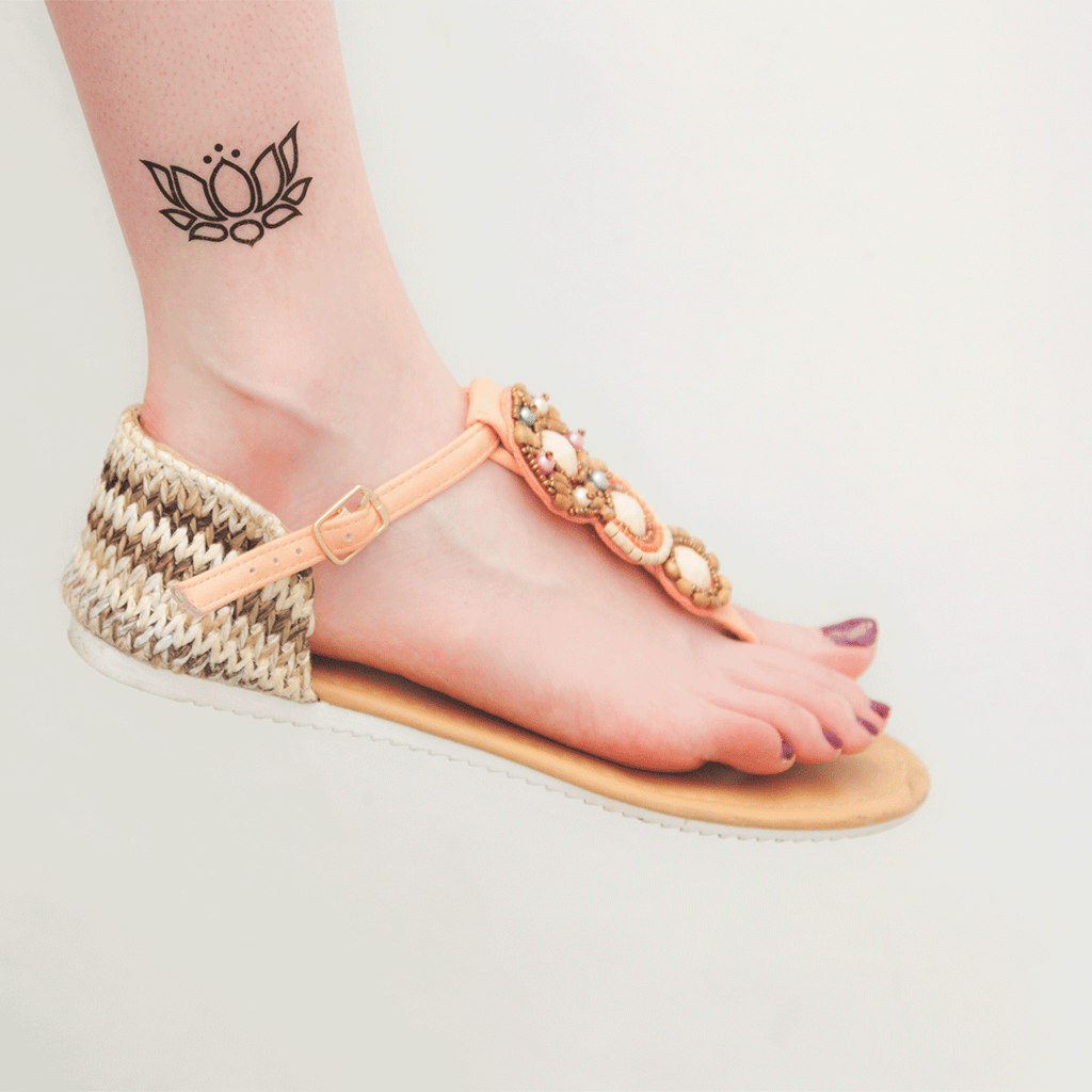 tattoonie temporary tattoos lotus flower