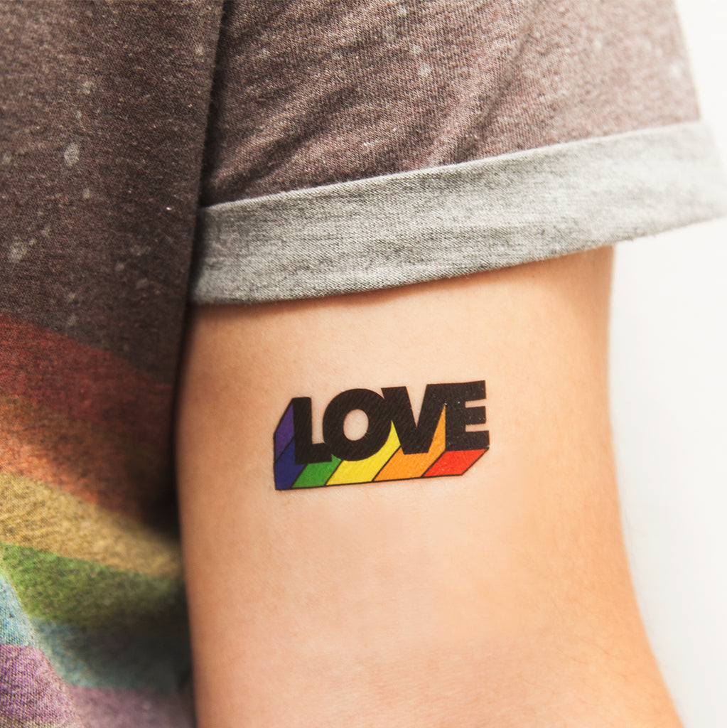 tattoonie temporary tattoos love pride gay