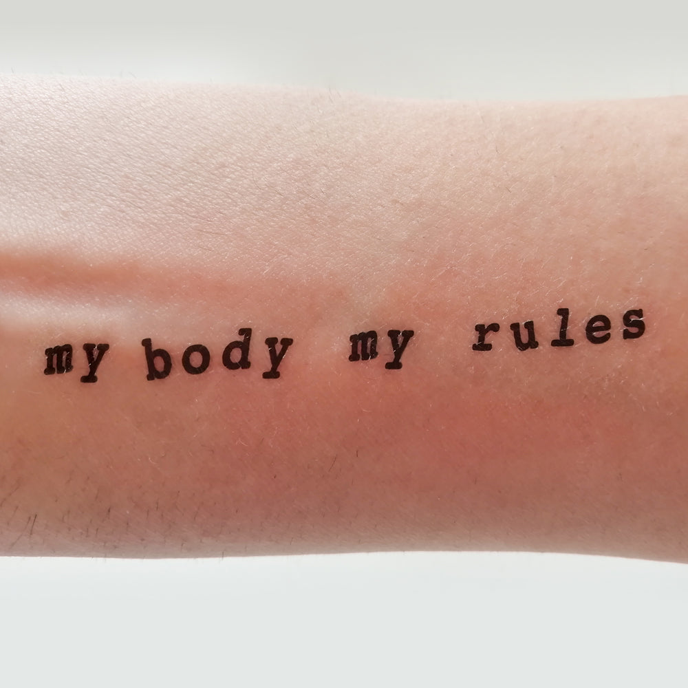 MY BODY MY RULES (Pack de 2)