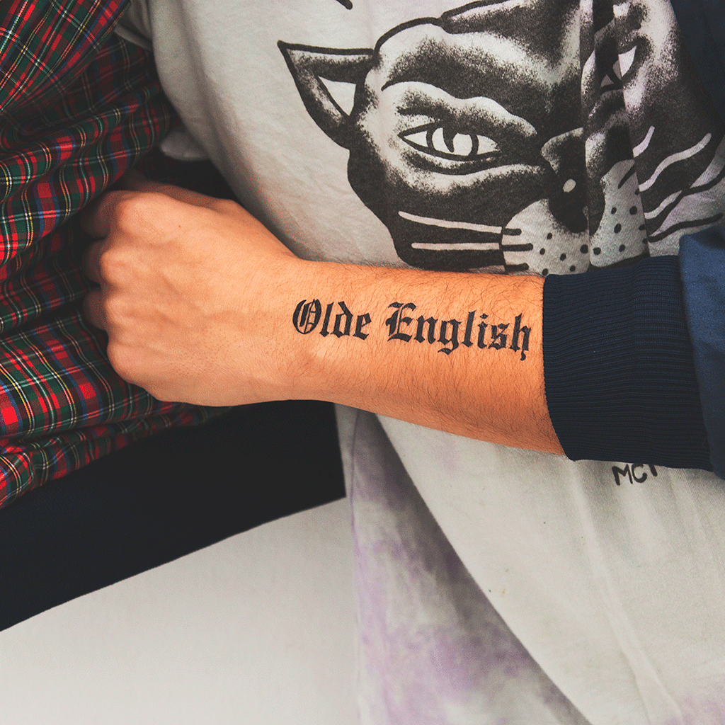 Tattoonie Temporary Tattoos olde english