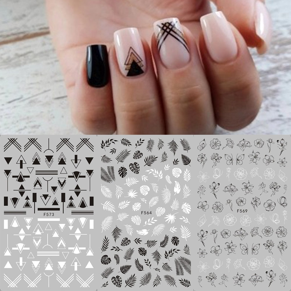 Geometric Nail Stickers