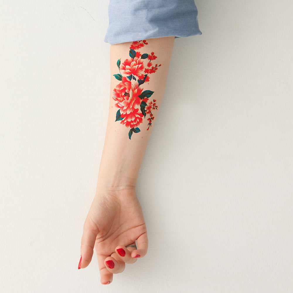 tattoonie temporary tattoos red flower