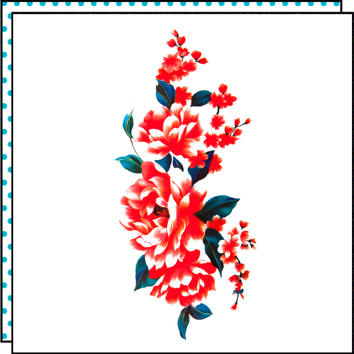 tattoonie temporary tattoos red flowers